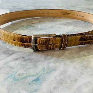 Robert Talbott Italian Leather Crocodile Mens Belt